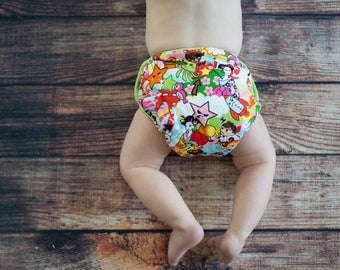 GEN-Y Classic Diaper Cover in AniMayhem Print