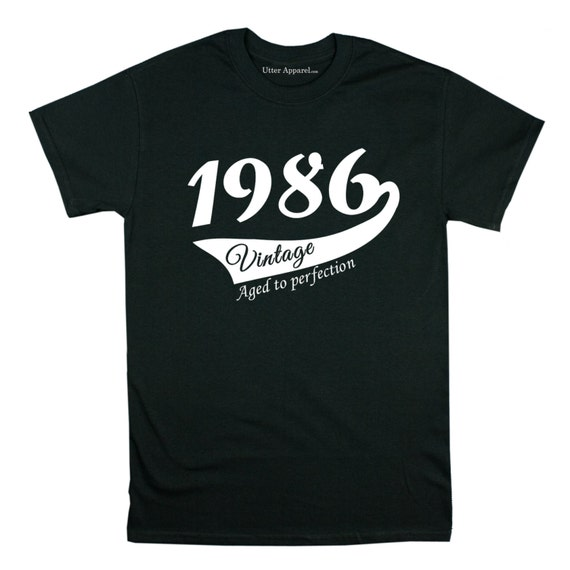 31st Birthday gift for him or her,  31 years old Party Shirt for man or woman vintage aged to perfection, 31st birthday party tee
