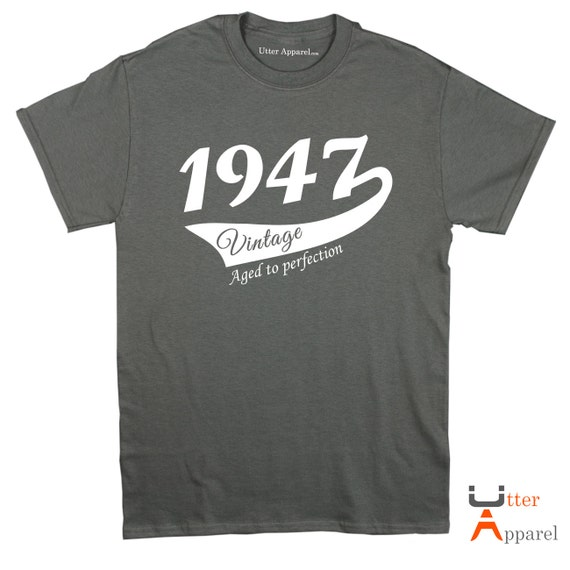 70th Birthday Gift Man 1947 Vintage 70th T-shirt  husband dad father brother granddad papa More colors available S-2XL