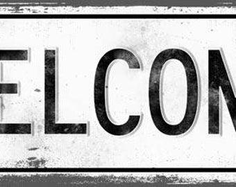 WELCOME Metal Street Sign, Vintage, Retro    MEM2030