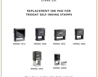 Replacement Ink Pad for Trodat Self Inking Stamps