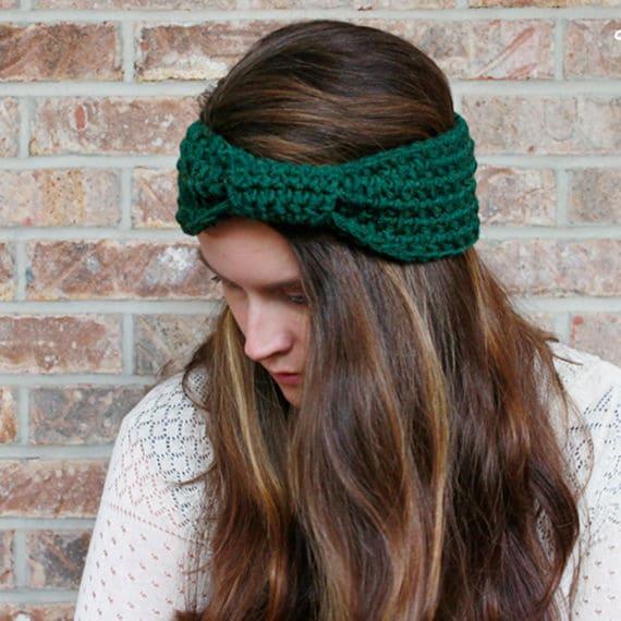 PDF Crochet Pattern ~ Headband Ear Warmer- modern - 4 SIZES