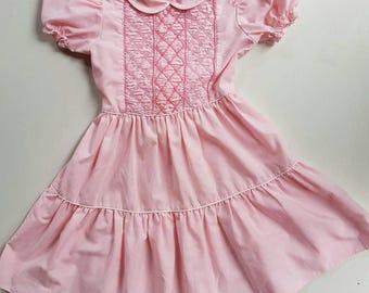 Vintage Jo Joe fashions size 6. Smocked girls dress