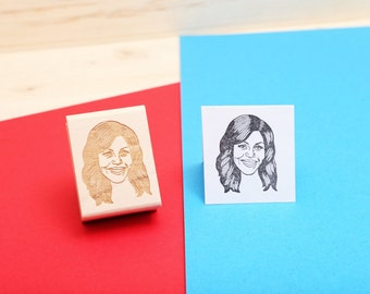 Michelle Obama - Rubber Stamp Portrait