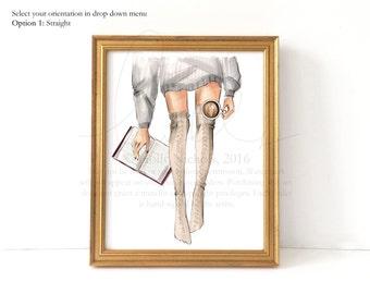 Well-Read (Fair Skin Option Fashion Illustration Print)