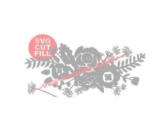 Floral Bouquet digital cut file for htv-vinyl-decal-diy-plotter-vinyl cutter-craft cutter-.SVG -.DXF  & JPEG format