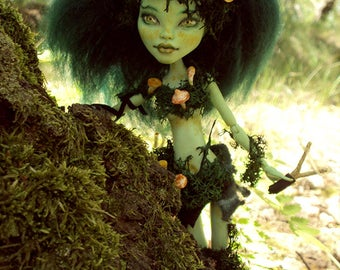 Monster High Repaint custom OOAK Woodland Fairy Mushroomfairy Venus McFlytrap