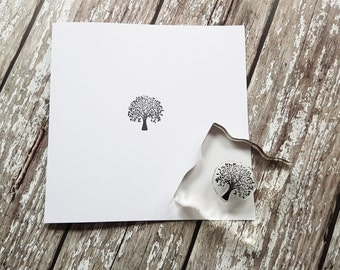 "Tree Stamp rubber stamps 1"" or 2.5cm"