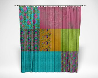 "Curtains Chiffon Sheers Two Sizes Boho Chic Gypsy ""Caravan Romance"" Window Curtain"