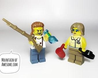 Trailer Park Couple + Custom MiniFigures + LEGO®  parts