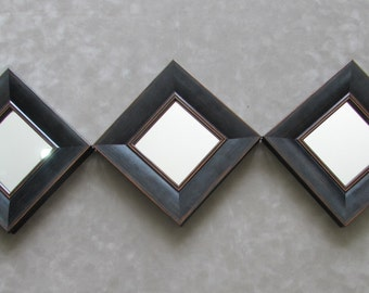 "Square Mirror, Multi Mirrors, Custom Mirror, Framed Mirrors, Distressed Frame, 7"" x 7' square Mirrors, Decorative Wall Mirrors,Wall Mirror"
