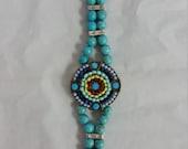 Handcrafted Bracelet- Multi Blue Beaded