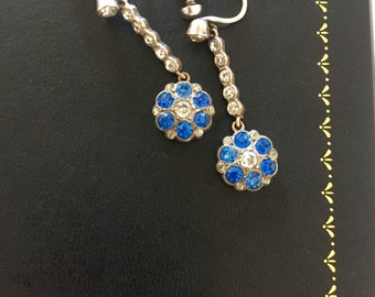 A Pair Of Edwardian Paste Earrings