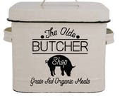 The Olde Butcher Shop | Cutting File | Printable | svg | eps | png | dxf | Organic | Meat Market | Farmhouse | Pig | Stencil | HTV