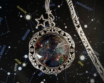 Cosmos Bookmark - Big bang - Space - Galaxy - Intersideral - Galactic - Stars - Galaxy - Astronomy - Night Skies - SuperNova - Books