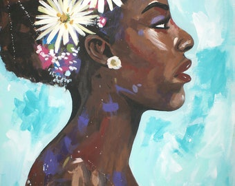 African American Art- RISE #4 poster print