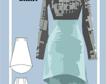 Sewing Pattern: High Waist High Low Skirt