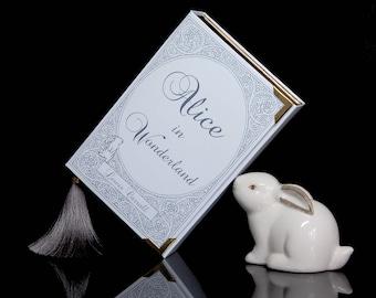 "Romantic Book Clutch ""Alice in Wonderland"" (handmade)"
