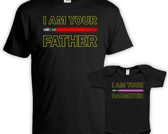 Father Daughter Matching Shirts Daddy And Me Outfits Matching Family Outfits I Am Your Father I Am Your Daughter Baby Bodysuit DN-670-586
