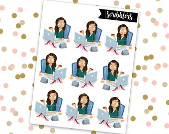 Sophia- Shopping || Scribblers // Limited Edition [24HR ONLY] (Glossy Planner Stickers)