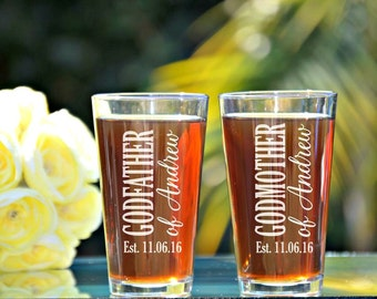 Godparents Gift, Baptism Gifts for Godparents, Will You Be My Godparents, Gifts for Godparents Gift, The Godfather, Godfather Beer Glass