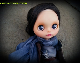 Custom Blythe Dolls For Sale by Jyn Erso Custom OOAK Blythe Doll by Sandra Coe (Custom #34) Star Wars Rogue One Art Doll 12