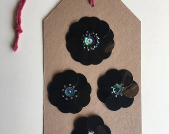Sequin Flower Embellishments