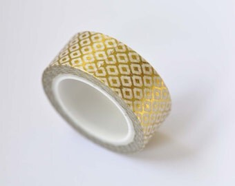 1 Roll Of Gold Washi Tape/ Planner Tape 15mm Wide x 10m Long /No. 12270