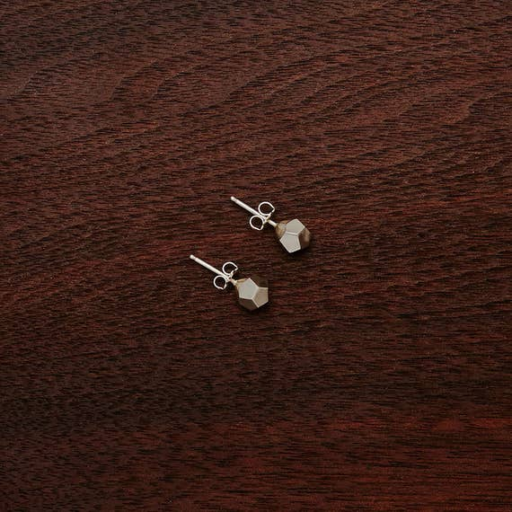Dodeca Stud Earrings - 12 Pentagon Faces - Sophisticated, Engaging, and Playful Detail - Math Shapes, Elegant, Subtle, Chic, Lovely, D&D Die