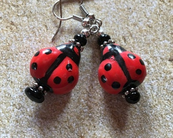Lady Bug Earrings, Summer Jewelry, Earrings, Gifts for Her