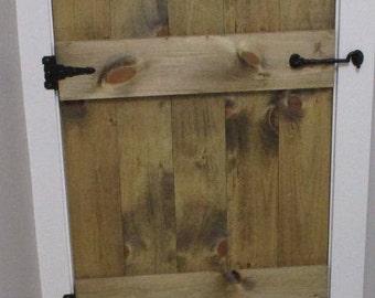 Small Rustic Wood Barn Door Garden Door