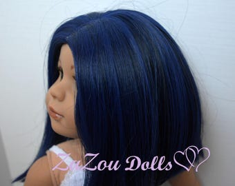 Zazou Dolls ooak WIG for 18 Inch dolls such as Journey, Our Generation and American Girl
