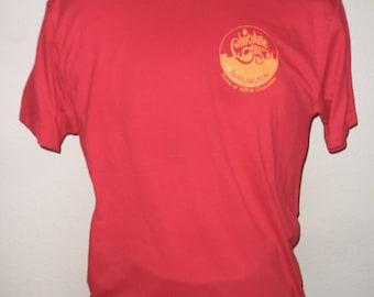 Vintage Original 1980s NESTLE Chocolate City BURLINGTON Wisconsin Red Soft Thin T Shirt XL