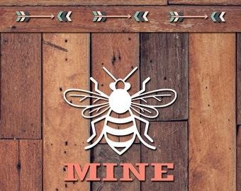 Bee Mine Decal | Yeti Decal | Yeti Sticker | Tumbler Decal | Car Decal | Vinyl Decal
