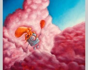 Always Fly High - Fun Robot & Octopus Print