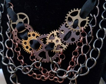 """Steampunk Statement Chain Necklace: """"The Great Chain"""""""