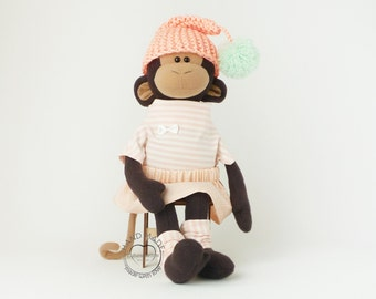 Stuffed monkey toy 15 inch, monkey plush doll, stuffed toys, Stuffed animals toy