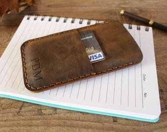 Leather Samsung Galaxy S8 Wallet Case, Leather Samsung Galaxy S8 Plus Case with Credit Card Pocket   - SG8-38CN