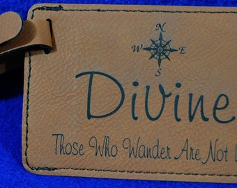 Groomsmen Gift ~ Luggage Tag ~ Bride & Groom Gift ~ Leather Tag ~ Gift For Traveler ~ Destination Wedding ~ Bridesmaid ~ Travel Gift ~ Tag