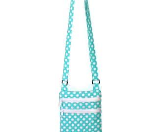 Crossbody Purse, Cross Body Bag, Quilted Purse, Aqua Bag, Teen Purse, Tween Bag, Purse for Girls, Gift for Her, Vegan, Gift Mom