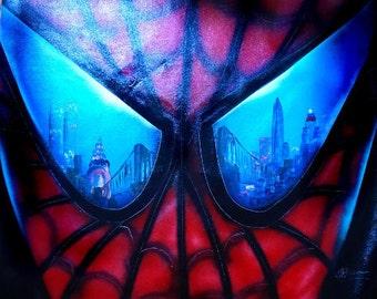 Amazing Spiderman spray paint art. original painting