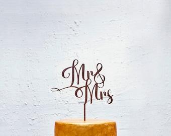 Customized Wedding Cake Topper, Personalized Cake Topper for Wedding, Custom Personalized Wedding Cake Topper, Mr and Mrs Cake Topper #33