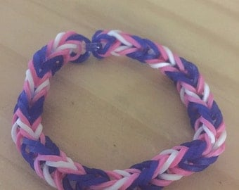 Rainbow Loom Colorful Fishtail Simple Bracelet LGBT Transgender Awareness (Proceeds donated to the Human Rights Campaign)
