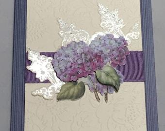 Handmade Note Cards Thank You Sympathy Botanical # 537