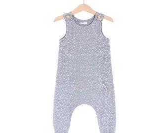 Grey Dots Organic Cotton Baby/Toddler Romper