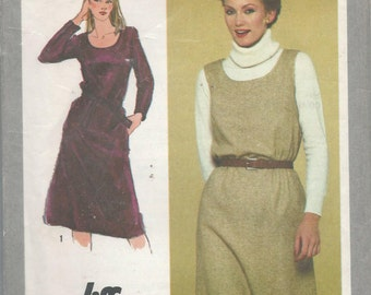 Simplicity 9602 Misses Jumper and Dress Size 22.5-24.5
