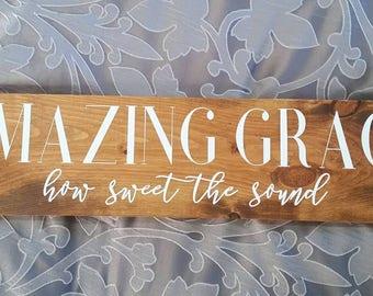 Amazing Grace Wall Art amazing grace sign   etsy