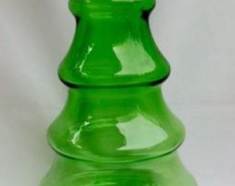 Vintage Green Christmas Tree Shaped Candy Dish