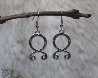 "Earrings "" Othala "" - Medieval, celtic, viking, pagan, runic"