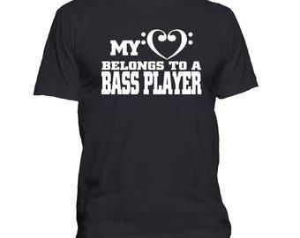 Bass Player t shirt, Bassist t-shirt, Musician, Band shirt, Groupie tee, Music Lover, Bass Clef t-shirt, Funny, Humor 289